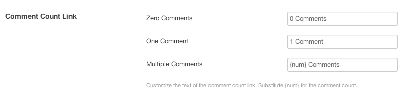 Comment Count settings at Settings > Appearance