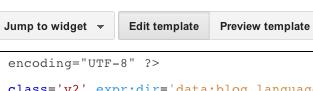 Edite botão modelo dentro Blogger editor de modelo