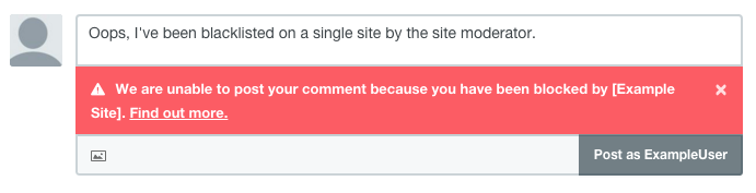 We are unable to post your comment because your account has been blocked