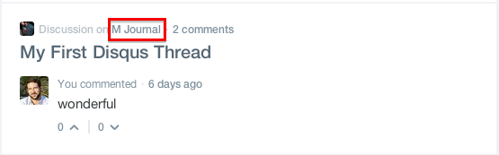 Website name in Disqus feed